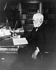 Andrew Carnegie at Desk Portrait Photo Print for Sale
