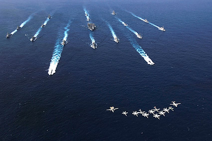 ANNUALEX Exercise Ships w/ Carrier Air Wing Five (CVW-5) Photo Print