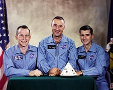 Apollo 1 Astronaut White, Grissom & Chaffee Photo Print
