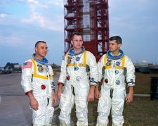 Apollo 1 Astronauts Gus Grissom, Ed White & Roger Chaffee Photo Print