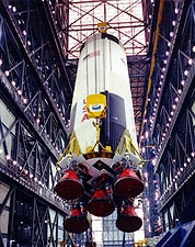 Apollo 10 Saturn V First Stage Construction Photo Print for Sale
