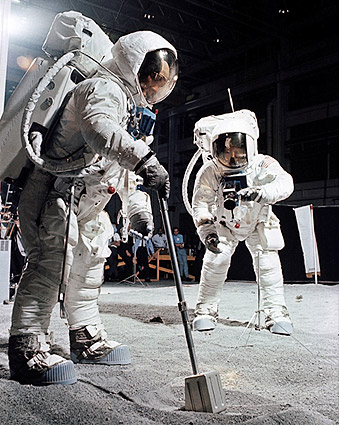 Apollo 11 Buzz Aldrin and Moon Samples Photo Print