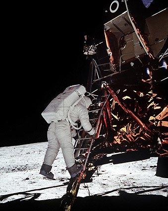 Apollo 11 Buzz Aldrin Descends LM Moon Photo Print