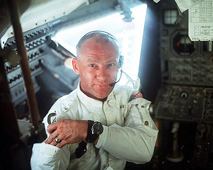 Apollo 11 Buzz Aldrin in Lunar Module Photo Print