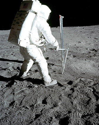 Apollo 11 Buzz Aldrin Solar Wind Experiment Photo Print