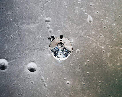 Apollo 11 Command Module on Moon Photo Print