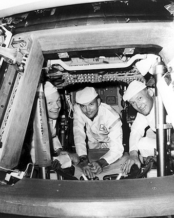 Apollo 11 Crew Inspects Command Module Photo Print