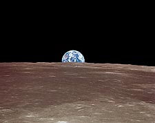 Apollo 11 Earthrise over the Moon Photo Print for Sale