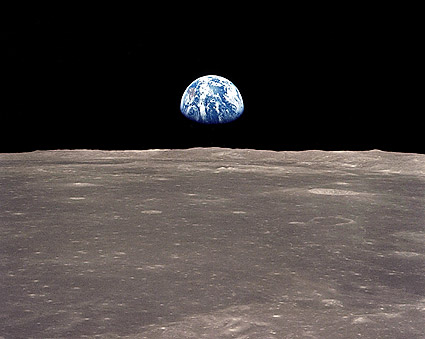 Apollo 11 Mission Earthrise Over Moon Photo Print