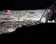 Apollo 11 Neil Armstrong on the Moon Photo Print for Sale