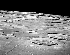 Apollo 11 Sabine & Ritter Craters on Moon Photo Print for Sale
