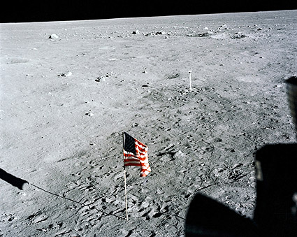 Apollo 11 US Flag & Camera on Moon NASA Photo Print