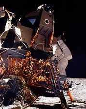 Apollo 12 Alan Bean on Lunar Module Ladder Photo Print for Sale