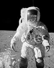 Apollo 12 Alan Bean on Moon w/ Tools Photo Print for Sale