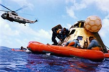Apollo 12 Alan Bean Recovery w/ Helicopter Photo Print for Sale