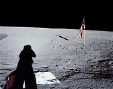 Apollo 12 Alan Bean Shadow on Moon Photo Print for Sale