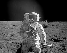 Apollo 12 Astronaut Alan Bean Lunar Surface Photo Print for Sale