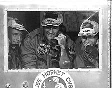 Apollo 12 Astronauts Aboard USS Hornet Photo Print for Sale