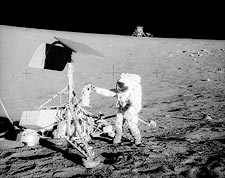 Apollo 12 Charles 'Pete' Conrad with Surveyor Photo Print for Sale