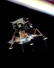 Apollo 12 Lunar Module in Orbit in Space Photo Print for Sale