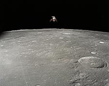 Apollo 12 Lunar Module Landing on Moon NASA Photo Print for Sale