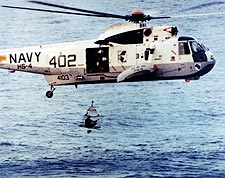 Apollo 13  Astronaut Helicopter Recovery Photo Print for Sale