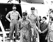 Apollo 13 Crew Arrives Aboard USS Iwo Jima Photo Print for Sale