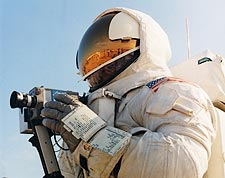 Apollo 13 Fred Haise Moon Walk EVA Training Photo Print for Sale