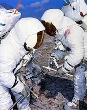 Apollo 13 Jim Lovell & Fred Haise Training Photo Print for Sale