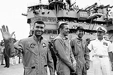 Apollo 13 Lovell Swigert Haise USS Iwo Jima Photo Print for Sale