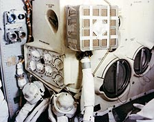 Apollo 13 Mailbox Device in Lunar Module Photo Print for Sale