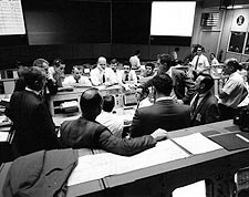 Apollo 13 Mission Control Final Hours NASA Photo Print for Sale