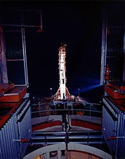 Apollo 13 Saturn V Moon Rocket NASA Photo Print for Sale