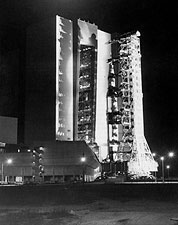 Apollo 13 Saturn V Rocket During Roll Out Photo Print for Sale