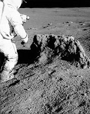 Apollo 14 Alan Shepard & Boulder on Moon Photo Print for Sale