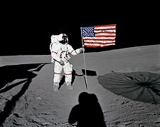Apollo 14 Alan Shepard Flag on Moon Photo Print for Sale
