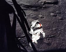 Apollo 14 Astronaut Alan Shepard EVA Moon Photo Print for Sale