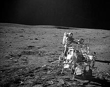 Apollo 14 Astronaut Alan Shepard on Moon Photo Print for Sale