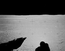 Apollo 14 Astronaut Alan Shepard Shadow on Moon Photo Print for Sale