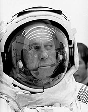 Apollo 14 Astronaut Alan Shepard Space Suit Photo Print for Sale