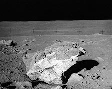 Apollo 14 Boulder on Moon Surface NASA Photo Print for Sale
