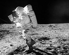 Apollo 14 Edgar Mitchell Lost in Space Photo Print for Sale