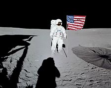 Apollo 14 Edgar Mitchell Lunar Surface Photo Print for Sale