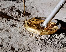 Apollo 14 Lunar Module Footpad on Moon Photo Print for Sale