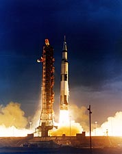 Apollo 14 Saturn V Rocket Launch NASA Photo Print for Sale