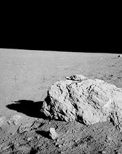 NASA Apollo 14 Turtle Rock on Moon Surface  Photo Print for Sale