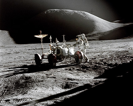 Apollo 15 Astronaut James Irwin and Lunar Rover Photo Print