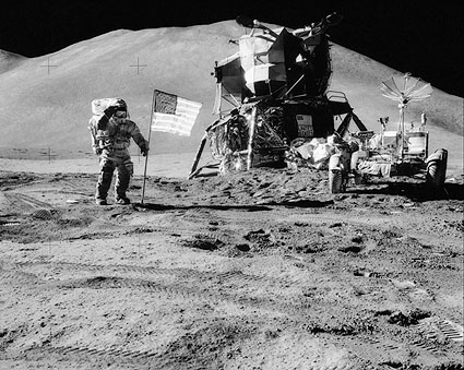 Apollo 15 Astronaut Jim Irwin on Moon Photo Print