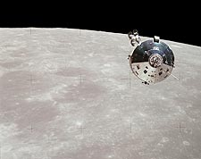 Apollo 15 Command Service Module & Moon Photo Print for Sale