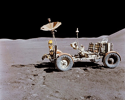 Apollo 15 Lunar Roving Vehicle on Moon NASA Photo Print